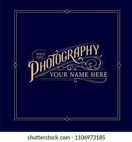 Vintage Photography Logo