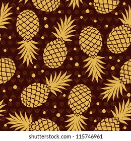 Vintage pineapple pattern