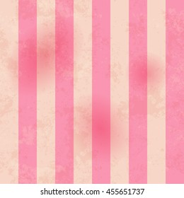 Vintage pink seamless pattern with stripes. Old paper parchment texture. Endless background for web page, wallpaper or wrapping. Vector illustration EPS 10