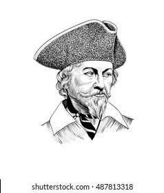 Vintage Pirate Illustration
