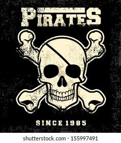 Vintage pirate mascot