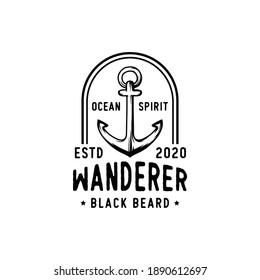 Vintage-Piraten, die für Embleme, Etiketten, Logos und entworfene Elemente entworfen wurden