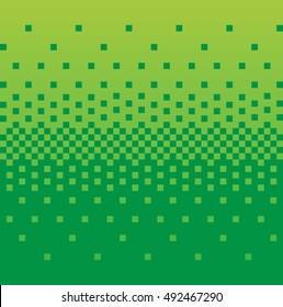 Vintage pixel green gradient background. Stock vector