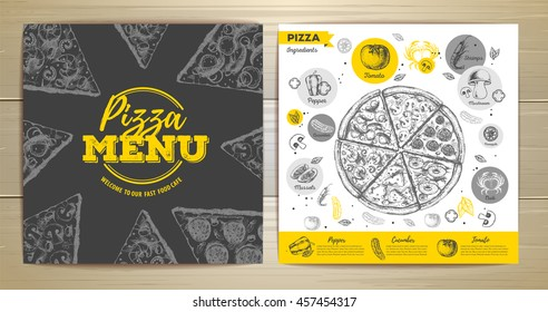 Vintage pizza menu design