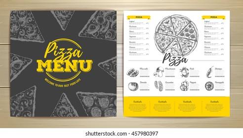 Vintage pizza menu design
