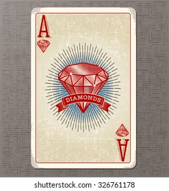 Ace Of Diamonds Images Stock Photos Vectors Shutterstock