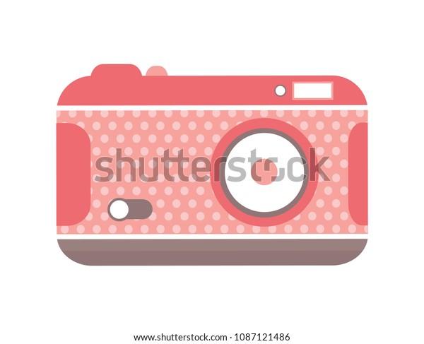 Vintage Polka Dot Camera