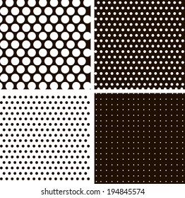 Vintage Polka Dots. Patterns set (vector version).