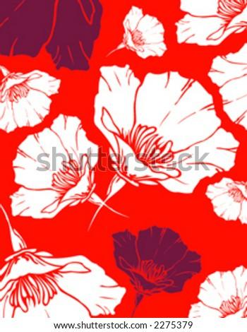 Vintage poppy flower wallpaper stock vector royalty free 2275379 vintage poppy flower wallpaper mightylinksfo