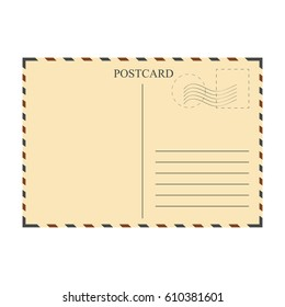Vintage postcard, template. Vector illustration