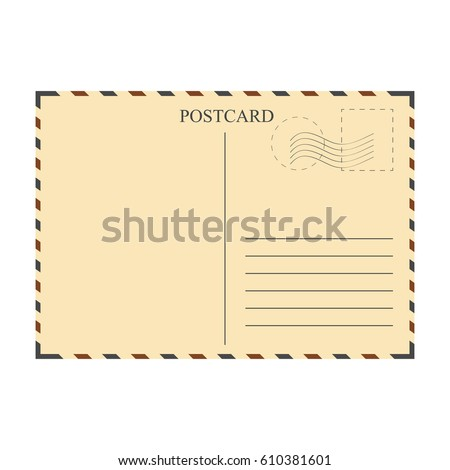 Vintage Postcard Template Vector Illustration Stock Vector Royalty