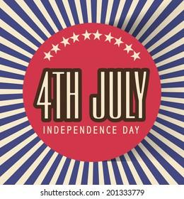 Vintage poster, flyer or banner design for 4th of July, American Independence Day celebrations.