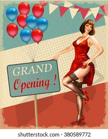 Vintage poster - Grand Opening