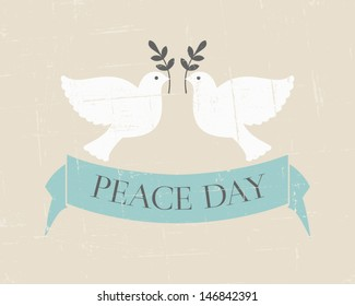 Vintage poster for the International Day of Peace.