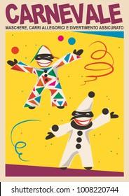 vintage poster of otalian carnival