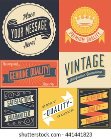 Vintage Poster - Retro and hand-drawn vintage poster design. Colors are global, and each object is grouped separately for easy editing.