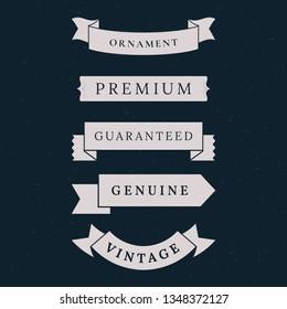 Vintage premium banner collection vectors