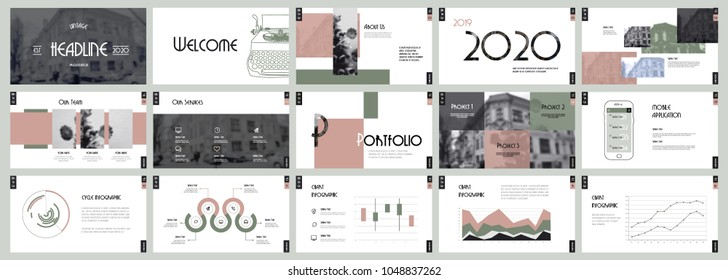 Vintage Presentation templates. Easy Use in creative flyer and leaflet, corporate report, marketing, advertising, presenting, banner.simple modern style. Slideshow, slide for brochure, booklet