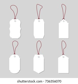 Vintage price tags and gift cards - vector