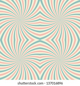 Vintage, psychedelic background. Colorful rays. Vector illustration EPS10