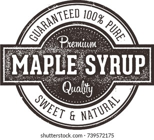 Vintage Pure Maple Syrup Label