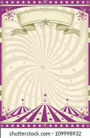 Vintage purple circus. a circus vintage poster for your advertising.