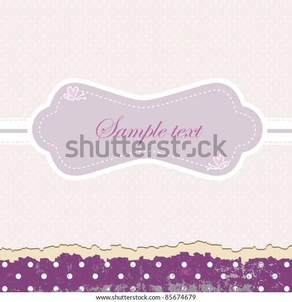 Vintage purple frame. Vector illustration