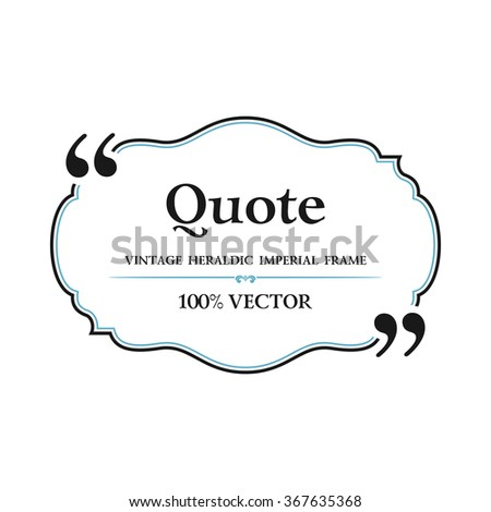 vintage quote blank text bubble box stock vector royalty free