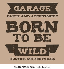 Vintage quote Grunge style