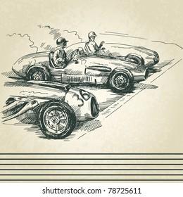 vintage racing cars