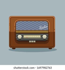 Vintage Radio Music Collage Art Typography