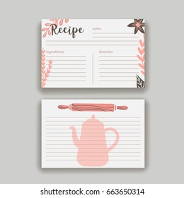 recipe card images stock photos vectors shutterstock