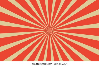 Vintage red radial lines background Rectangle fight stamp for card Retro graphic vector texture