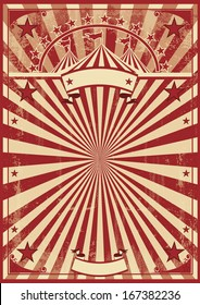 vintage red sunbeams.  A vintage circus poster for your show