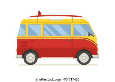 Camper Side View >> Cartoon Van Images, Stock Photos & Vectors | Shutterstock