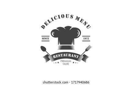 Vintage restaurant logo and badge logo vector