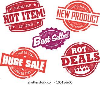 Vintage Retail Store Sale Stamps