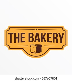 Vintage retro bakery logo badge