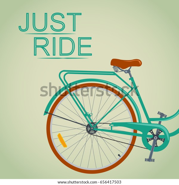 Vintage Retro Bicycle Go Out Bicycle Stock Vector (Royalty