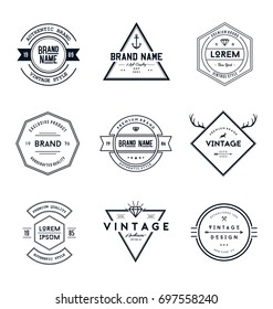 Vintage Retro Brand Badges Collection
