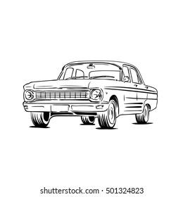 vintage retro car art