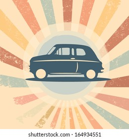 Vintage retro car vector illustration suitable for promotion, t-shirt designs, etc.