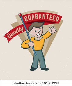 Vintage Retro Guarantee logo vector illustration