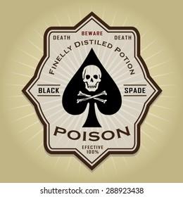 Vintage Retro Poison Label