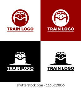 vintage retro railroad steam train logos, emblems, labels and badges, train logo template