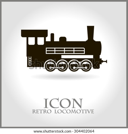 vintage retro railroad train locomotive logo stock vector royalty