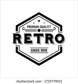 Vintage Retro Rustic, Label Stamp Logo design vector
