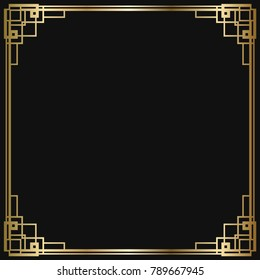 Great gatsby invitation stock vectors images vector art vintage retro style invitation in art deco art deco border and frame creative template stopboris Image collections