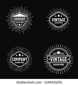 vintage retro sunburst logo