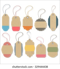 Vintage retro tags collection
